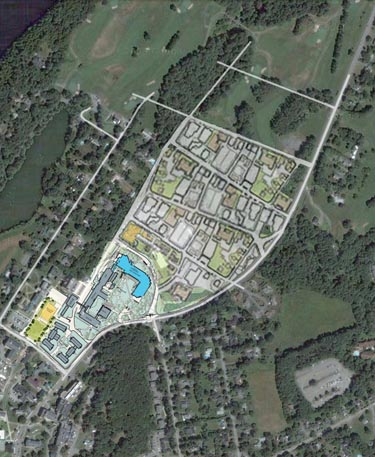 South end of Golf Course with street grid superimposed