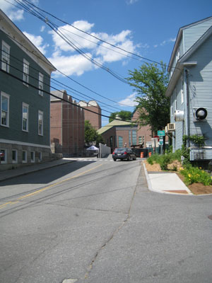 View of Hood from Currier Street