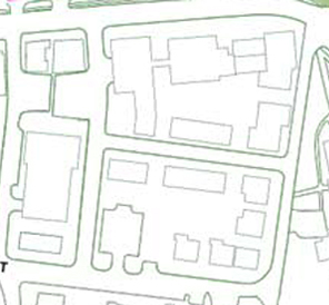 Sargent Block plan from campus tour map