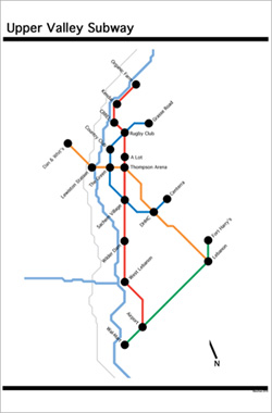 Upper Valley Subway map by Scott Meacham