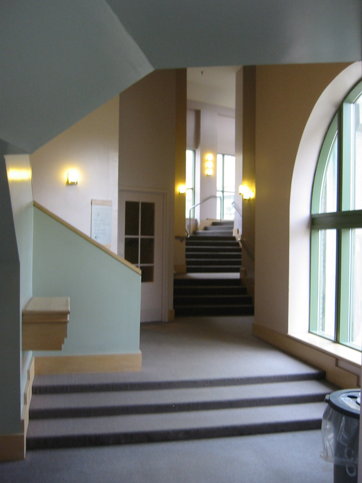photo of interior of Wilson Hall connector to Hood