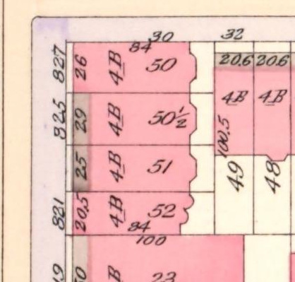 Detail of 1898-1899 Bromley atlas of NYC, from NYPL