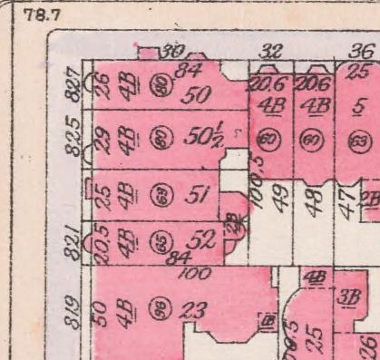 Detail of 1916 Bromley atlas of NYC, from NYPL