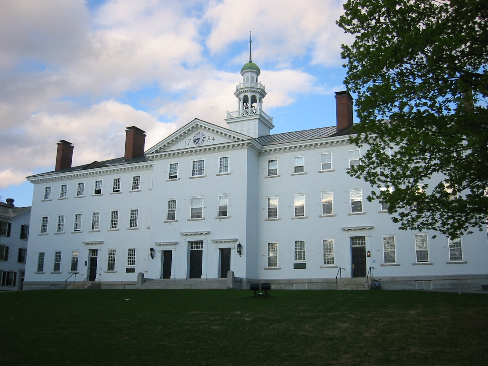 Dartmouth Hall without front shutters