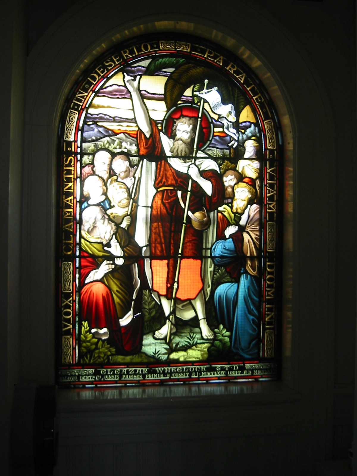 Wheelock memorial window, Bartlett Hall, Dartmouth College