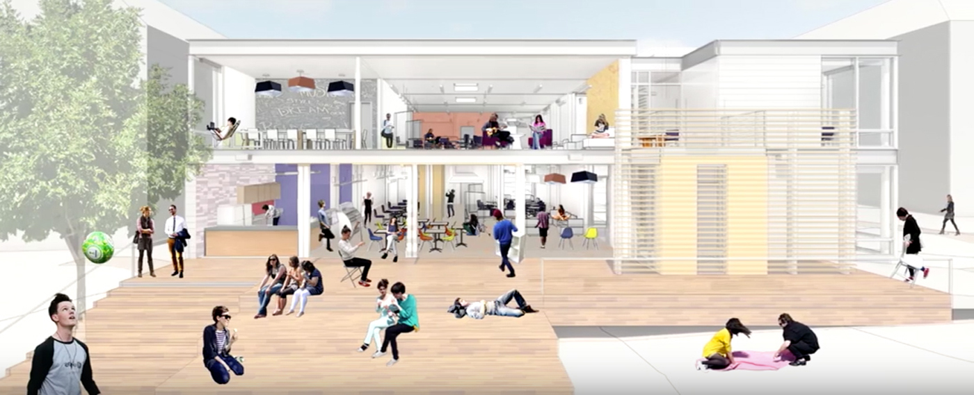 Detail of House Center B rendering from OPDC video