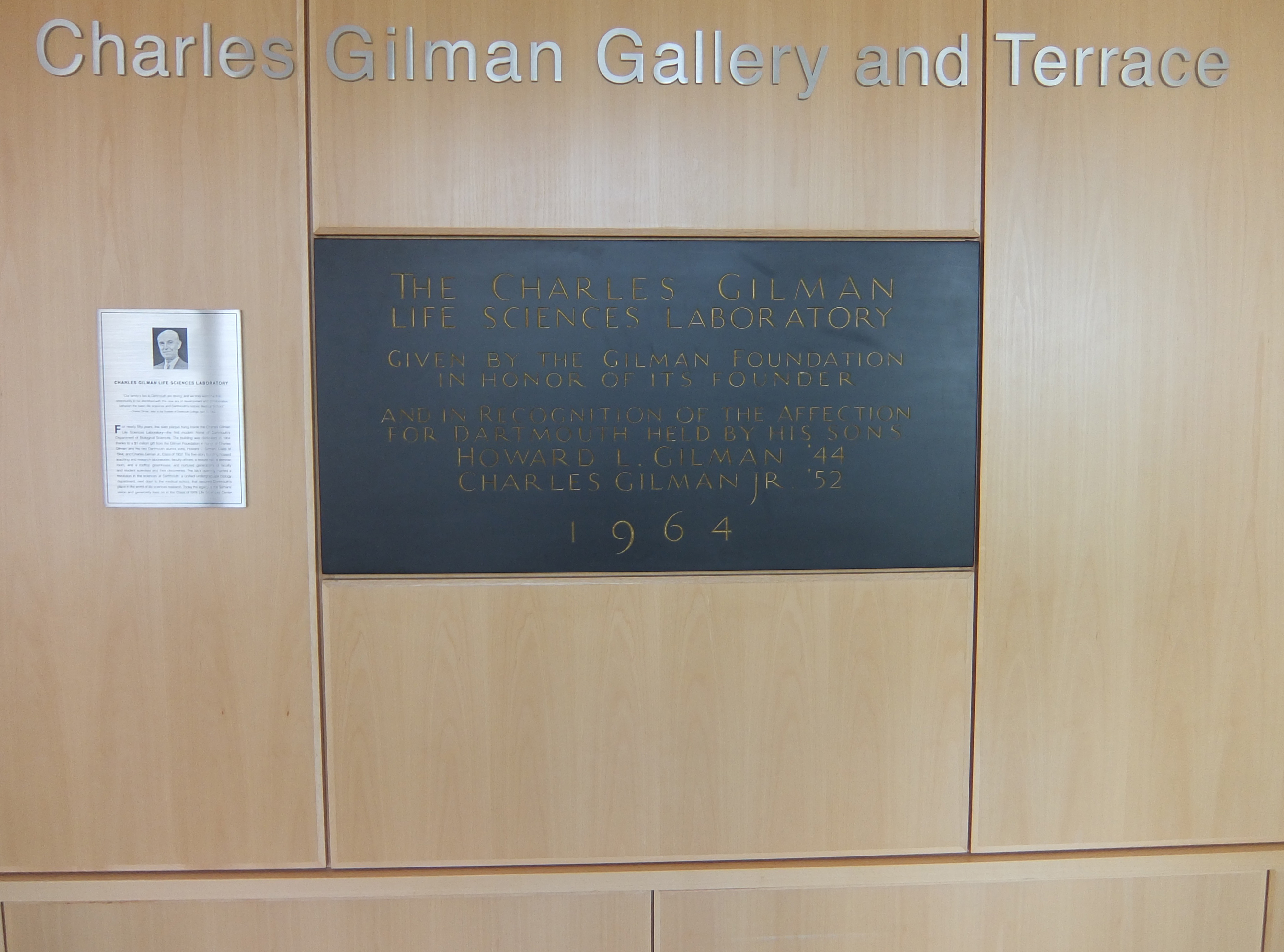 Gilman plaque, Meacham photo